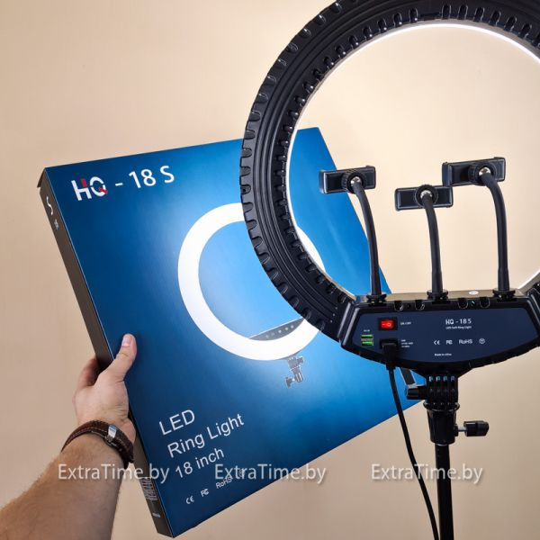 Кольцевая лампа HQ-18S Ultra 45 см. - ПАДАРОК.